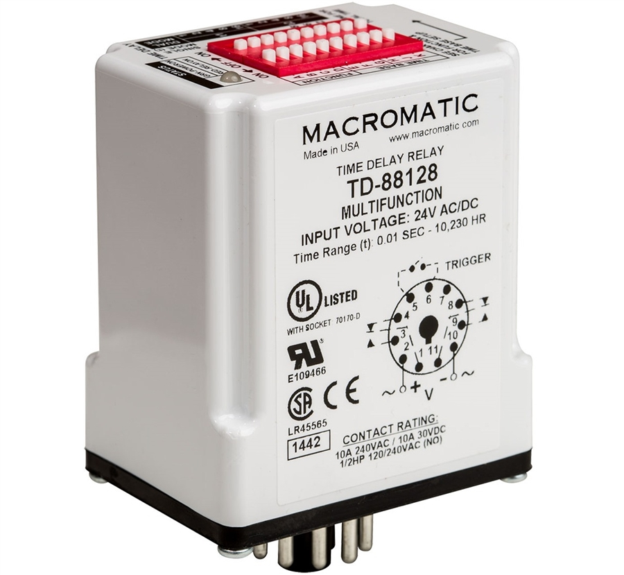 Macromatic TD-88166 8 Pin Multi-Function 12V Time Delay Relay on