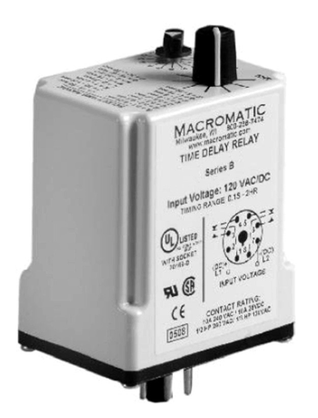 Macromatic TR-60822 Flasher Off 1st 120V Time Delay Relay