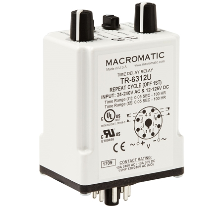 Macromatic TR-6312U Time Delay Relay