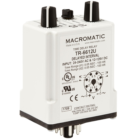 Macromatic TR-6612U Time Delay Relay