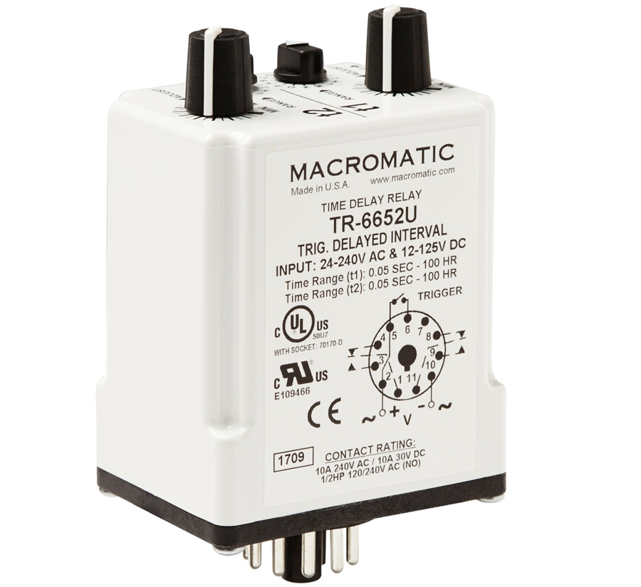 on macromatic time delay relay wiring