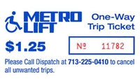 METROLift One Way Trip Ticket