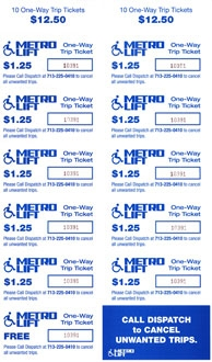 METROLift 10 Trip Tickets (plus one free)