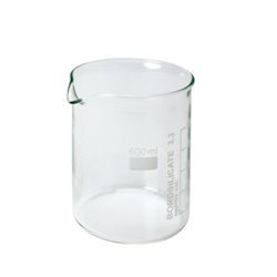 Set of 10 Beakers,600 ml, Low Form