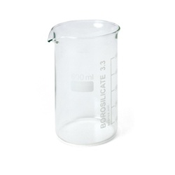 Set of 10 Beakers,600 ml, Tall Form