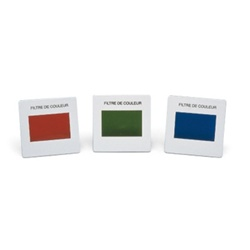 Set of 3 Color Filters, Primary Colors