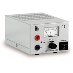 DC Power Supply 1.5-15 V, 1.5 A (230 V, 50/60 Hz)