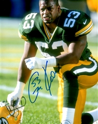 GEORGE KOONCE SIGNED PACKERS 8X10 PHOTO #1