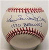 KEN SANDERS SIGNED MLB BASEBALL W/ 1970 BREWERS