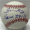 DAVE MAY (d) SIGNED OFFICIAL MLB BASBALL W/ BREWERS 1970-74