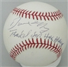 DAVE MAY (d) SIGNED OFFICIAL MLB BASBALL W/ TRADED FOR HANK AARON