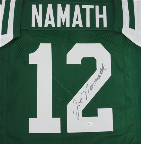 new style c7ed6 1422a JOE NAMATH SIGNED CUSTOM NY JETS JERSEY - JSA