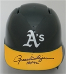 ROLLIE FINGERS SIGNED ATHLETICS MINI HELMET W/ HOF '92 - JSA