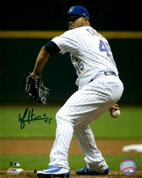 JHOULYS CHACIN SIGNED 8X10 BREWERS PHOTO #3