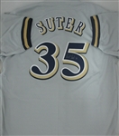 BRENT SUTER SIGNED BREWERS CUSTOM GREY JERSEY
