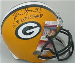 GILBERT BROWN SIGNED FULL SIZE PACKERS REPLICA HELMET W/ SB XXXI