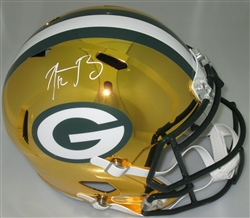 AARON RODGERS SIGNED FULL SIZE PACKERS CHROME REPLICA HELMET