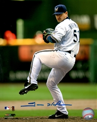 TREVOR HOFFMAN SIGNED 8X10 BREWERS PHOTO #1