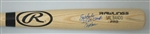 ATHLETICS SAL BANDO SIGNED BIG STICK NAME ENGRAVED BLONDE BAT W/ 2 SCRIPTS - JSA