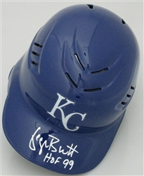 GEORGE BRETT SIGNED KC ROYALS FULL SIZE HELMET w/ HOF - JSA