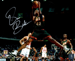 VIN BAKER SIGNED 8X10 SEATTLE SONICS PHOTO #1