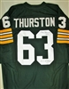 FUZZY THURSTON (D) SIGNED GREEN CUSTOM JERSEY W/ SB I II CHAMPS