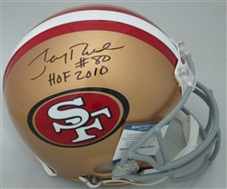 JERRY RICE SIGNED SF 49ers FULL SIZE AUTHENTIC HELMET W/ HOF - BCA