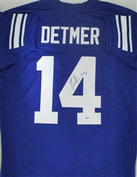 TY DETMER SIGNED BYU COUGARS CUSTOM REPLICA JERSEY W/ HEISMAN - BCA