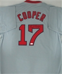 CECIL COOPER SIGNED CUSTOM RED SOX JERSEY - JSA
