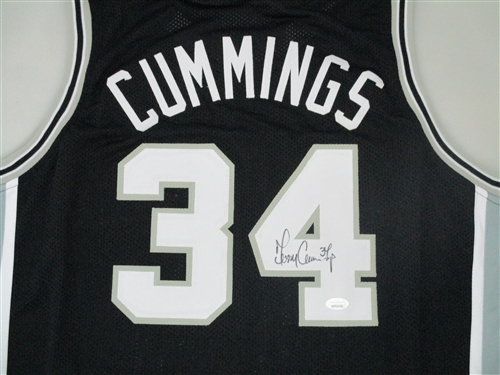 reputable site ca4da 386c2 TERRY CUMMINGS SIGNED CUSTOM REPLICA SAN ANTONIO SPURS JERSEY - JSA