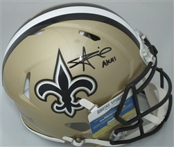 ALVIN KAMARA SIGNED FULL SIZE SAINTS SPEED AUTHENTIC HELMET W/ AK41