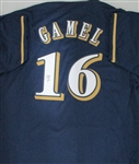 BEN GAMEL SIGNED CUSTOM REPLICA BREWERS NAVY JERSEY