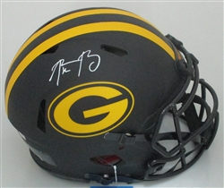 AARON RODGERS SIGNED FULL SIZE PACKERS REPLICA AMP HELMET