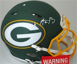 AARON RODGERS SIGNED FULL SIZE PACKERS AUTHENTIC AMP HELMET