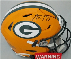AARON RODGERS SIGNED FULL SIZE PACKERS AUTHENTIC SPEED FLEX HELMET