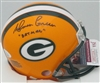 "AHMAN GREEN SIGNED PACKERS MINI HELMET W/ ""BATMAN"""