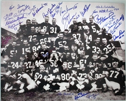 "1962 GREEN BAY PACKERS MULTI SIGNED 16X20 ""GOOF AROUND"" PACKERS TEAM PHOTO"