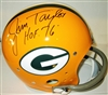 JIM TAYLOR SIGNED FULL SIZE PACKERS TK SUSPENSION HELMET W/ HOF '76