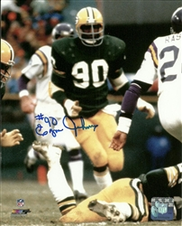 EZRA JOHNSON SIGNED 8X10 PACKERS PHOTO #1