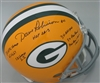 DAVE ROBINSON SIGNED FULL SIZE PACKERS REPLICA HELMET W/ 6 SCRIPTS - JSA