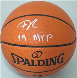 GIANNIS ANTETOKOUNMPO SIGNED REPLICA SPALDING BASKETBALL - BUCKS W/ 19 MVP - JSA