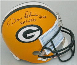 DAVE ROBINSON SIGNED PACKERS FULL SIZE REPLICA HELMET W/ HOF 2013
