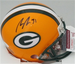 ADRIAN AMOS SIGNED PACKERS MINI HELMET - JSA