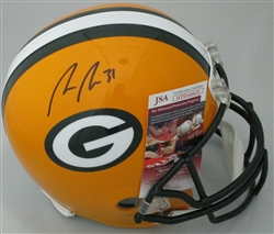 ADRIAN AMOS SIGNED FULL SIZE PACKERS REPLICA HELMET - JSA
