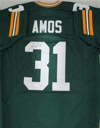ADRIAN AMOS SIGNED CUSTOM REPLICA PACKERS GREEN JERSEY - JSA