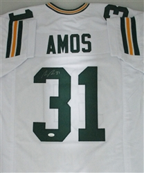 ADRIAN AMOS SIGNED CUSTOM REPLICA PACKERS WHITE JERSEY - JSA