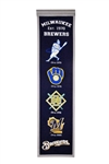 MILWAUKEE BREWERS 8X32 WOOL HERITAGE BANNER