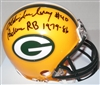 EDDIE LEE IVERY SIGNED PACKERS MINI HELMET W/ 1979-85