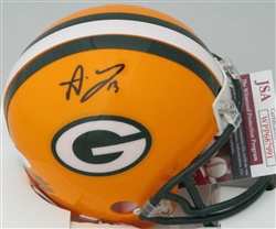 ALLEN LAZARD SIGNED PACKERS MINI HELMET - JSA