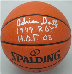 ADRIAN DANTLEY SIGNED SPALDING REPLICA BASKETBALL W/ 2 SCRIPTS